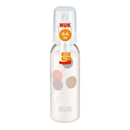 Nuk 110Ml印花pp奶瓶/矽膠奶咀1號中孔
