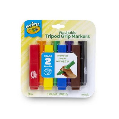 Crayola繪兒樂 可水洗三角形標記筆8支裝