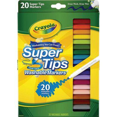 Crayola繪兒樂 20色細頭兒童可水洗水彩筆