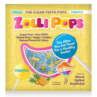 Zollipops祖莉 木糖醇護齒棒棒糖(菠蘿味)15支