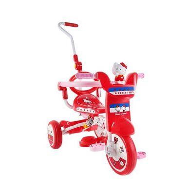 Hello Kitty吉蒂貓 推控前圍摺合三輪車