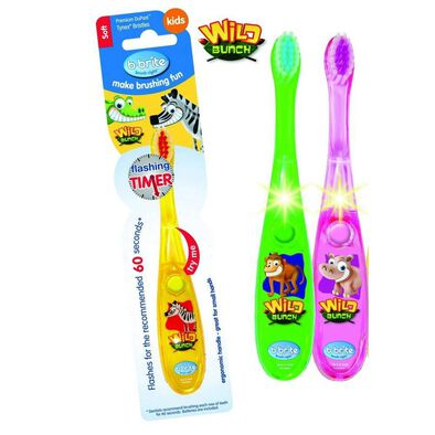 B Brite Brush Right 勤樂叢林動物閃光計時牙刷alpha型號 隨機發貨