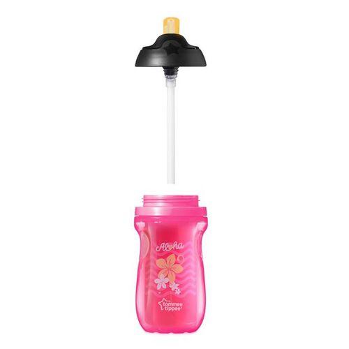 Tommee Tippee湯美星防漏保凍吸管杯 (260Ml) 粉紅色