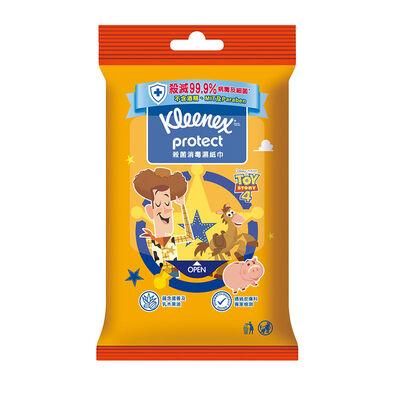 Kleenex健力氏迪士尼toy Story反斗奇兵4殺菌消毒濕紙巾10片- 隨機發貨