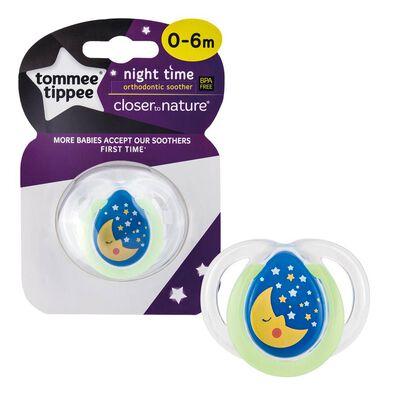 Tommee Tippee湯美星closer To Nature 夜光安撫奶咀 0 6個月 (單個裝) 隨機發貨