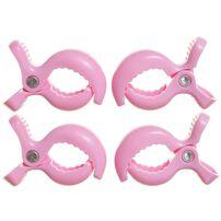 Dreambaby 手推車掛鉤 4件裝 粉紅色