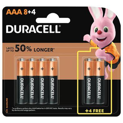 Duracell金霸王鹼性電芯aaa 8+4粒裝