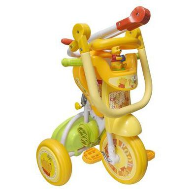 Baby Star小熊維尼帶推桿可折疊三輪車
