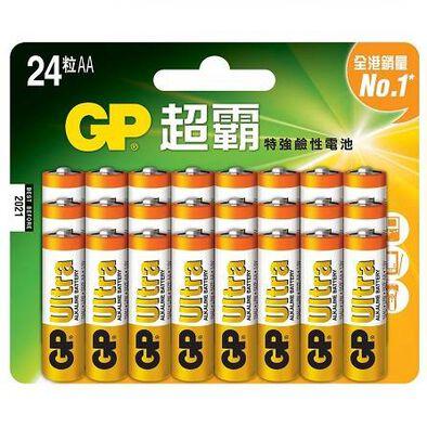 Gp超霸特強鹼性電池 2A 24粒咭裝