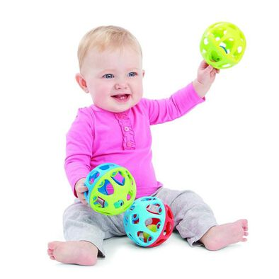 Bru Infant & Preschool 嬰兒響鈴手滾球 隨機發貨