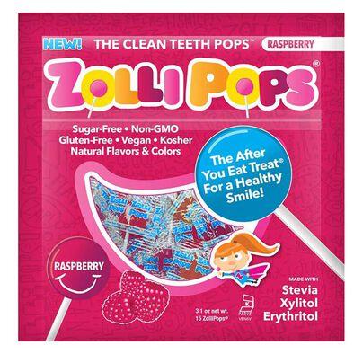 Zollipops祖莉 木糖醇護齒棒棒糖(紅桑子味)15支