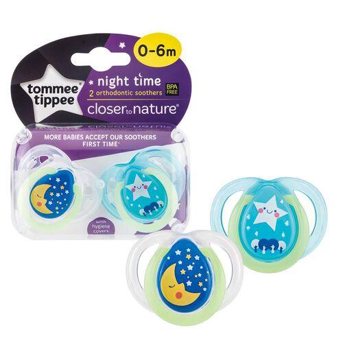 Tommee Tippee湯美星Closer To Nature 夜光安撫奶咀 0 6個月 (兩個裝) 隨機發貨