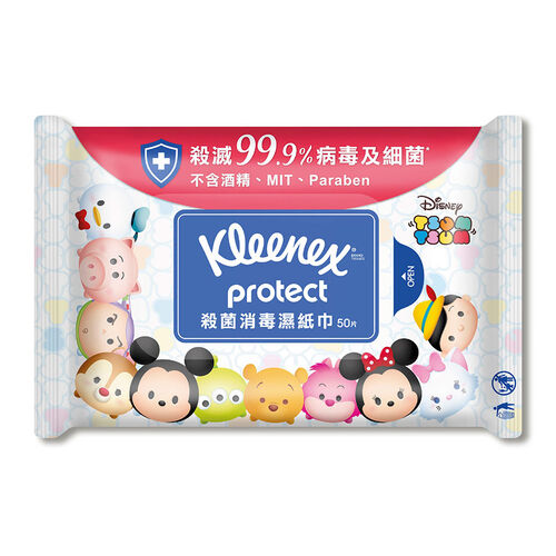 Kleenex健力氏 Tsum Tsum殺菌消毒濕紙巾 (50片)