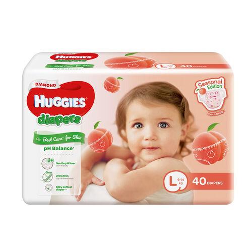Huggies好奇diamond蜜桃紙尿片大碼40片