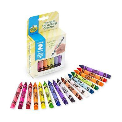 Crayola繪兒樂可水洗三角蠟筆16支裝