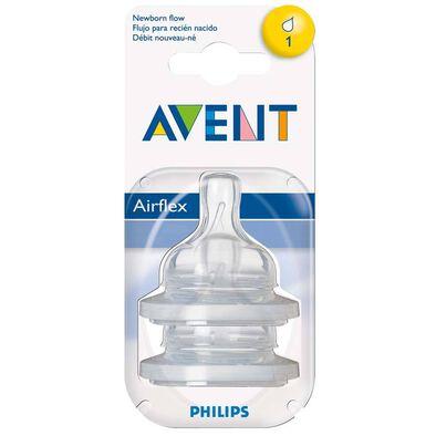 Philips Avent新安怡 兩個裝奶嘴慢速流量 1孔 (初生)