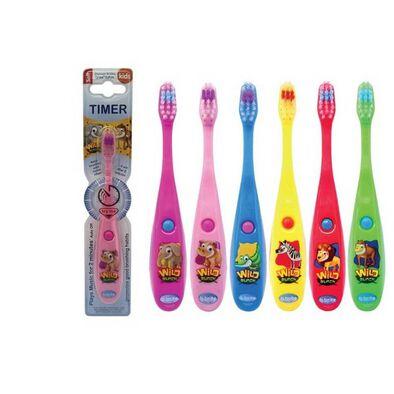 B Brite Brush Right 勤樂叢林動物音樂計時牙刷kappa型號 隨機發貨