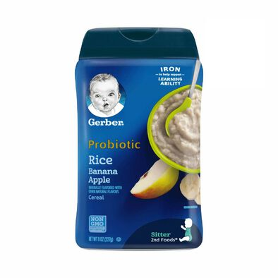 Gerber 嬰兒米粉-香蕉及蘋果味