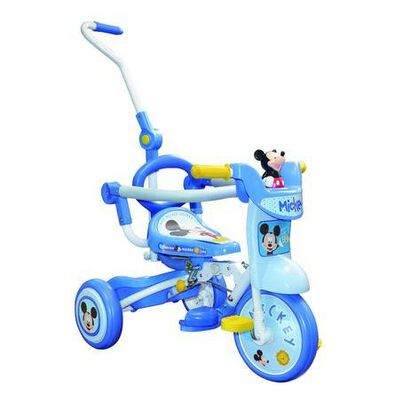 Baby Star Mickey Foldable Trike With Pushing Bar