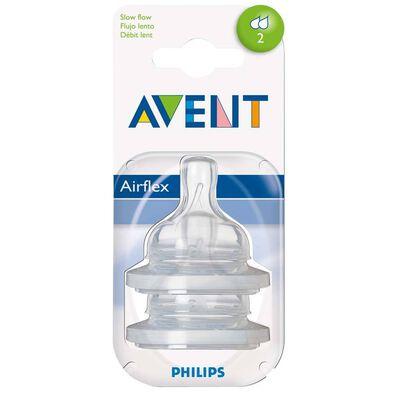 Philips Avent新安怡 兩個裝奶嘴慢速流量 2孔