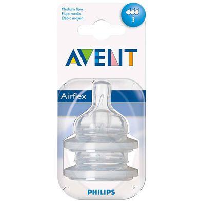 Philips Avent新安怡 奶嘴中速流量 3孔 兩個裝